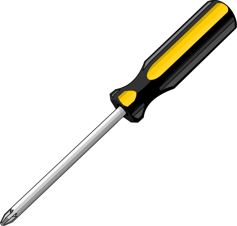 svg black and white library for a screwdriver clip art