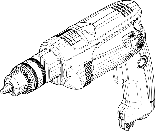 image library download Electric Drill Clip Art at Clker