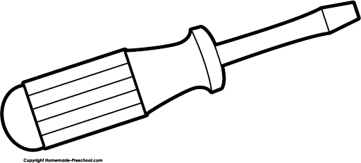 clip download Screwdriver drawing. Tools clipart free on