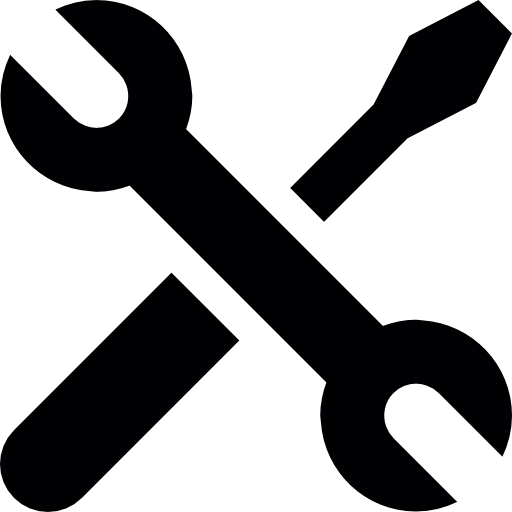 picture black and white library Wrench clipart repair tool. Screwdriver and crossed free