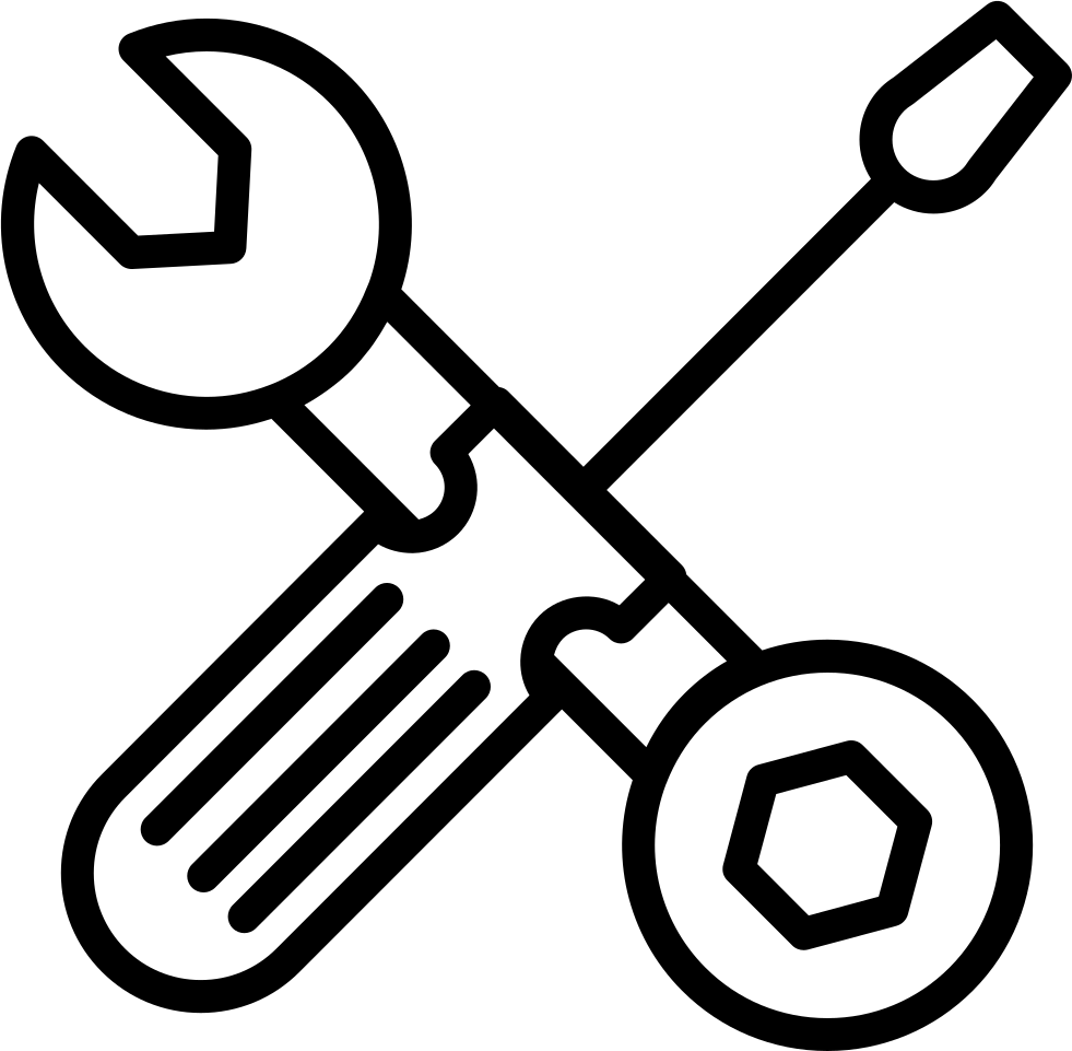 clip transparent download Wrench And Bolt Tool And Screwdriver Outline Svg Png Icon Free