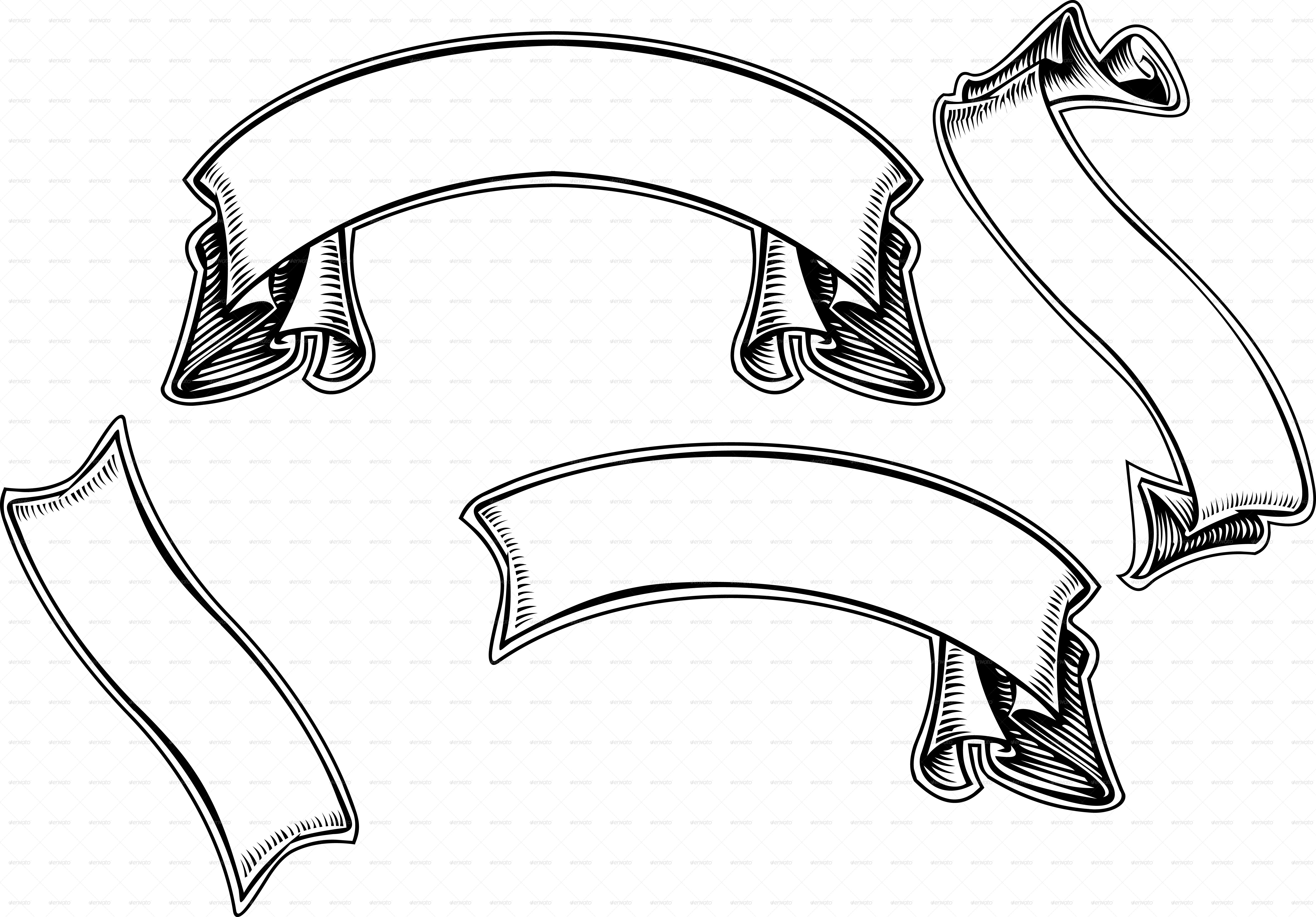image transparent library Scroll banners clipart. Free banner download clip
