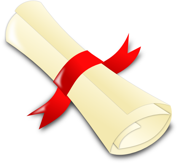 royalty free library Rolled Diploma Clip Art at Clker