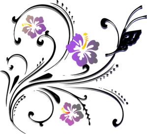 picture transparent stock Butterfly Scroll Clip Art at Clker