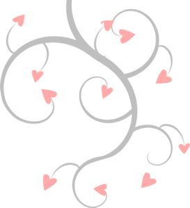 picture library download Pink And Grey Heart Scroll Clip Art at Clker