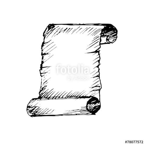 clip art free stock Hand drawn ancient scroll