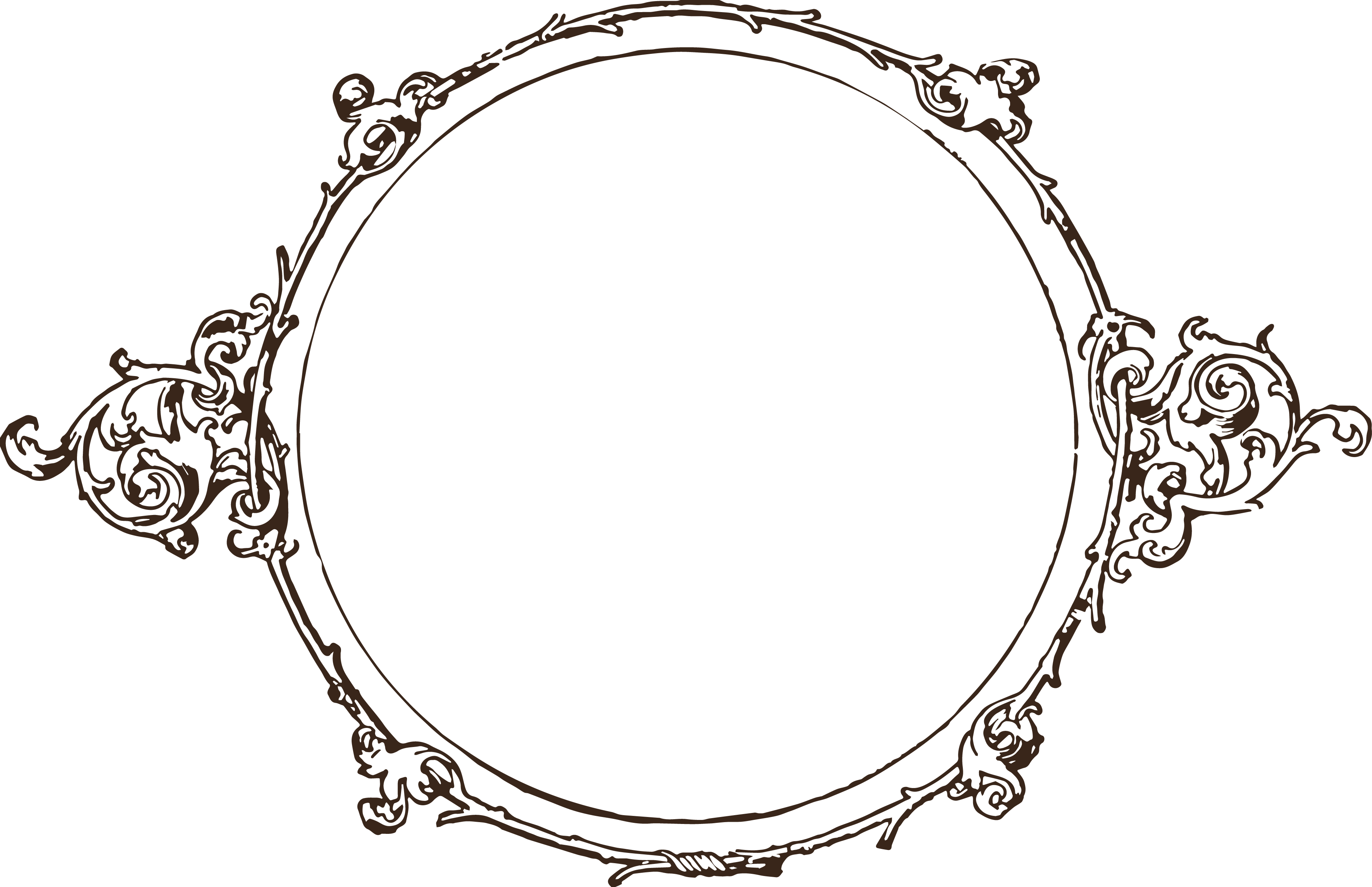 clipart transparent stock Oval Scroll Border