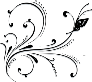 clip freeuse library Butterfly scroll clip art. Scrollwork clipart.