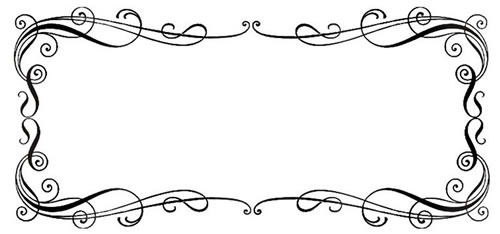 vector transparent download Fancy free download best. Scroll borders clipart