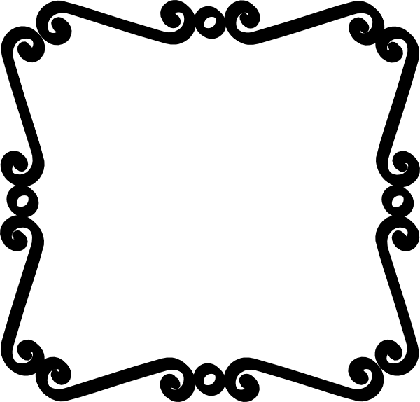 png black and white library Simple Scroll Design Clip Art