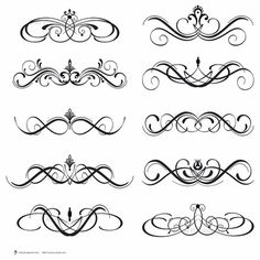 png freeuse Scrollwork clipart letterhead. Free cliparts download clip