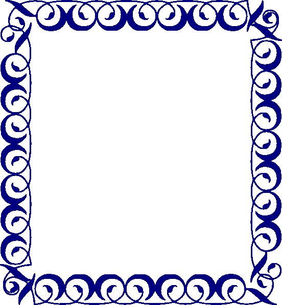 clip library Blue border clipart. Fancy scroll clip art