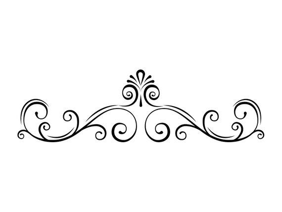 banner stock Filigree svg. Page border swirl decorative.