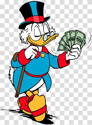 graphic free Scrooge McDuck transparent background PNG cliparts free