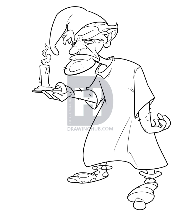 transparent library Ebenezer Scrooge Drawing at PaintingValley