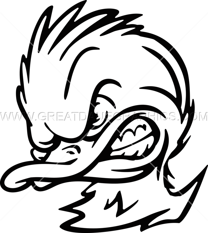 royalty free stock Drawing pain artistic. Duck head at getdrawings