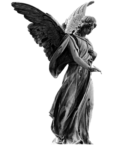 picture library library sculpture drawing angel #102750036