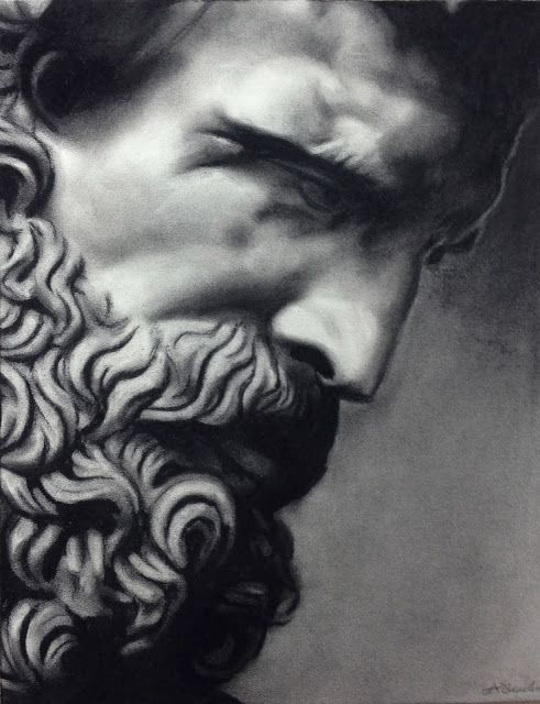 free library Roman statue silenus art. Sculpture drawing charcoal