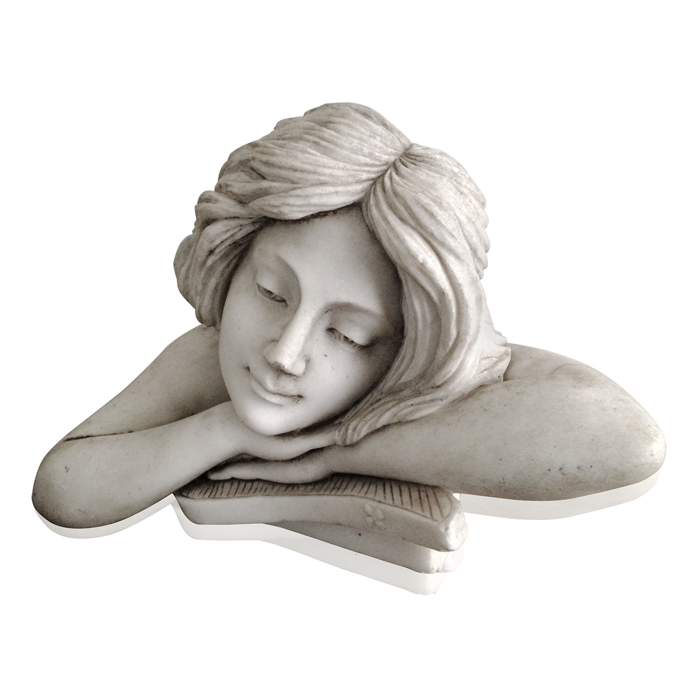 png free Italian school Art Nouveau Marble sculpture of Beautiful Girl circa