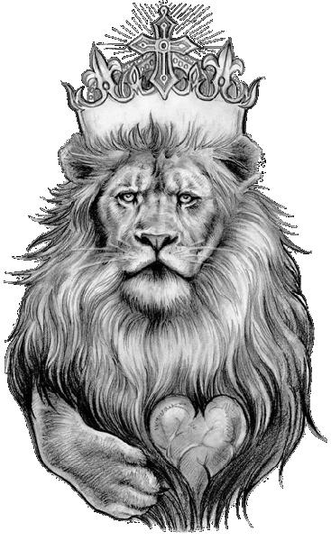 vector free spiritual drawing lion #103533763