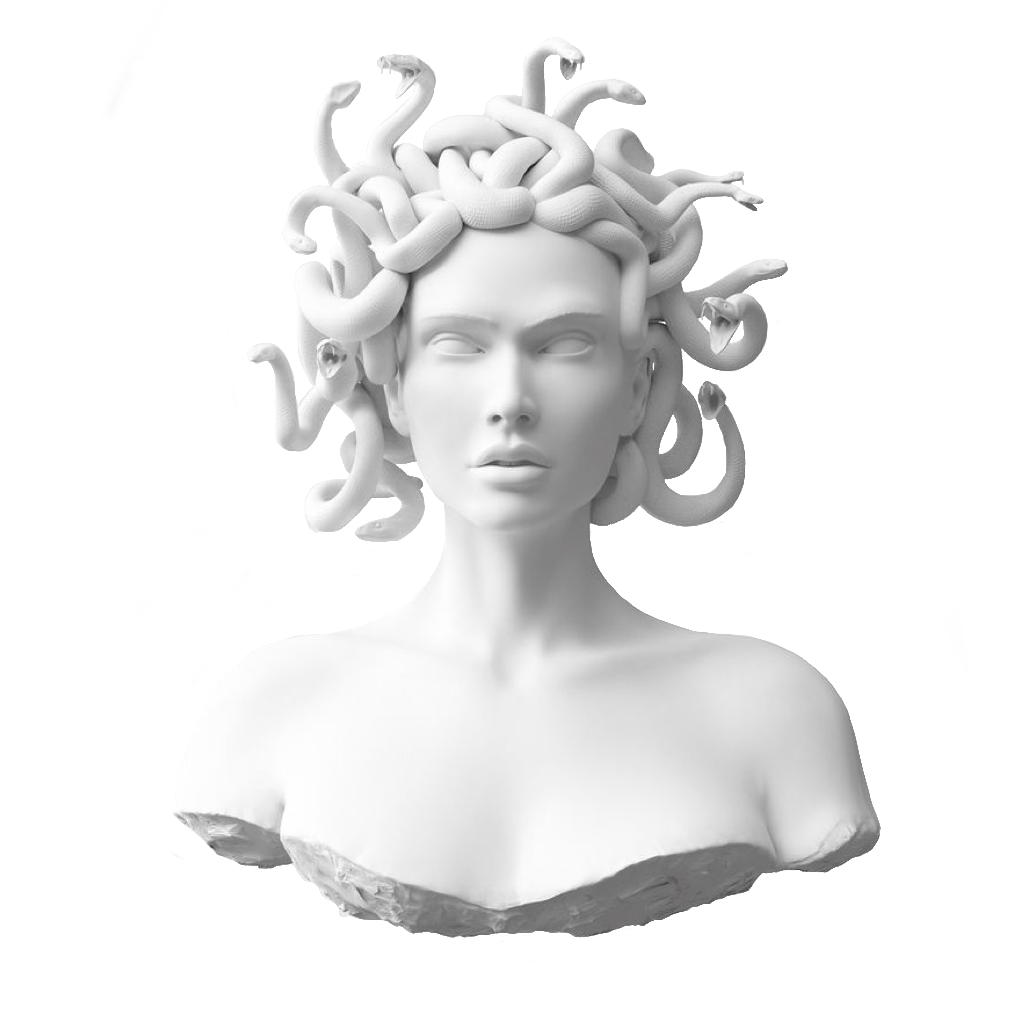 jpg transparent medusa statue bust greek ancient freetoedit