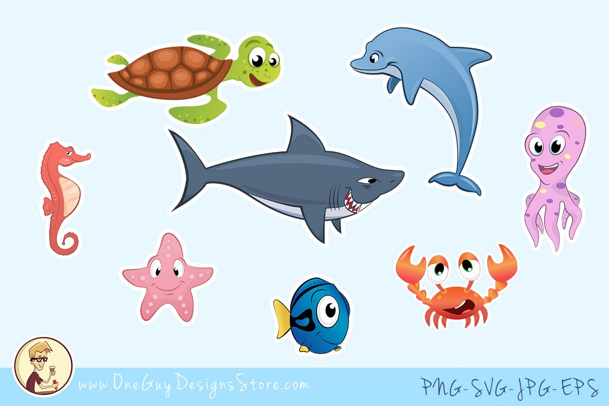 clip art transparent download Animals underwater life cute. Sea animal clipart