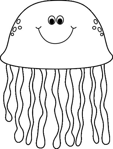 jpg black and white stock Sea Life Clip Art