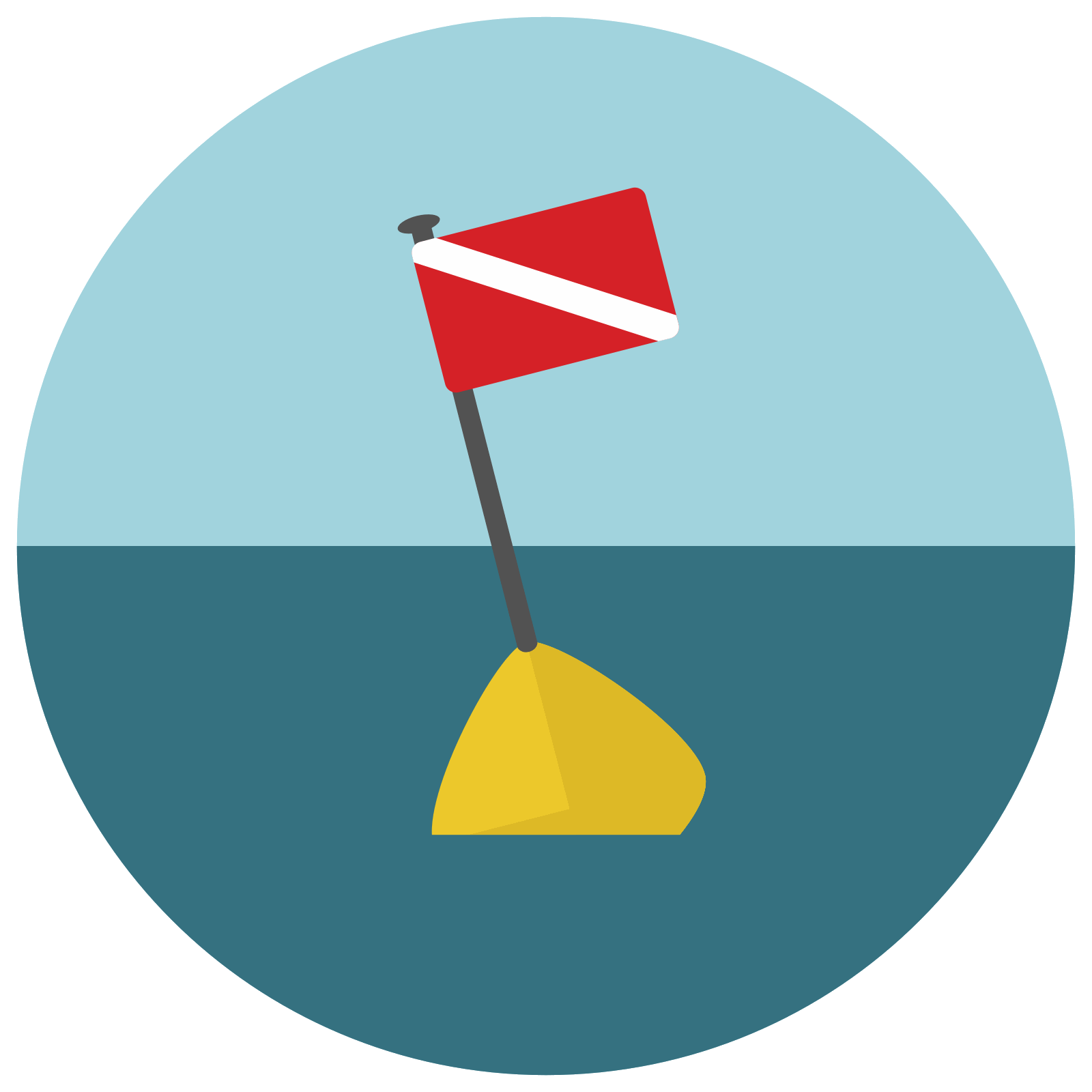 vector library stock Diving Buoy Icon