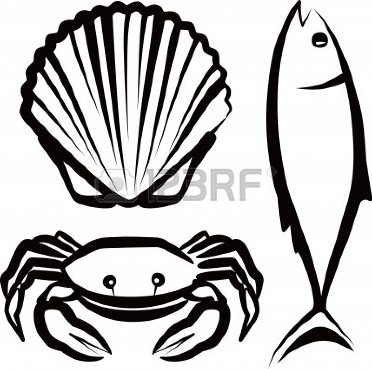 vector library library Seafood clipart. Free panda images .