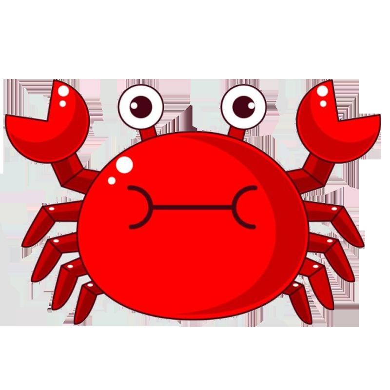 vector free Chilli crab Cartoon Illustration