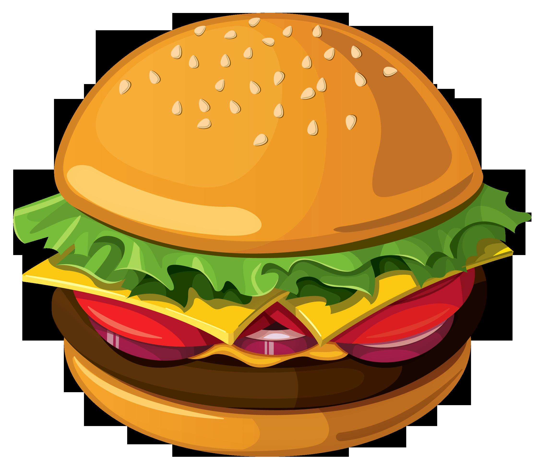 jpg library download Chicken food clipart free. Vector burger illustrator