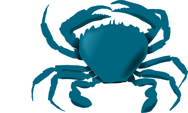 vector freeuse library Blue Crab Clipart