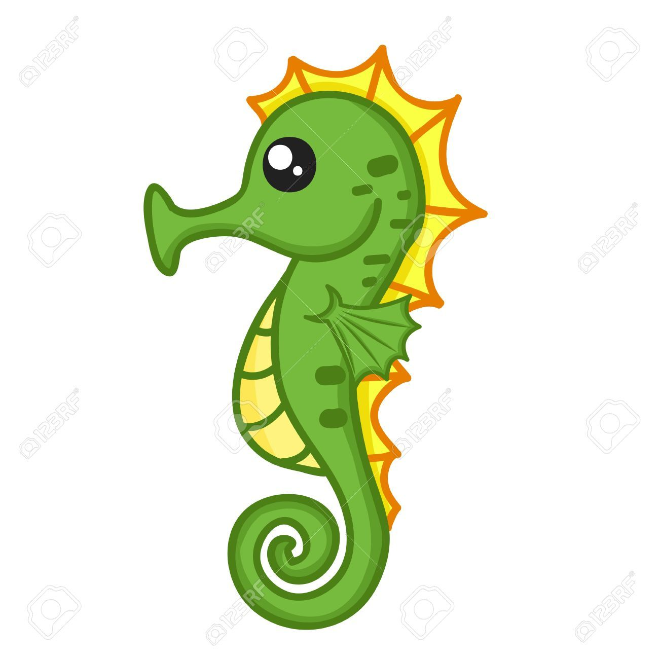 svg library library Cute drawing . Seahorse clipart.