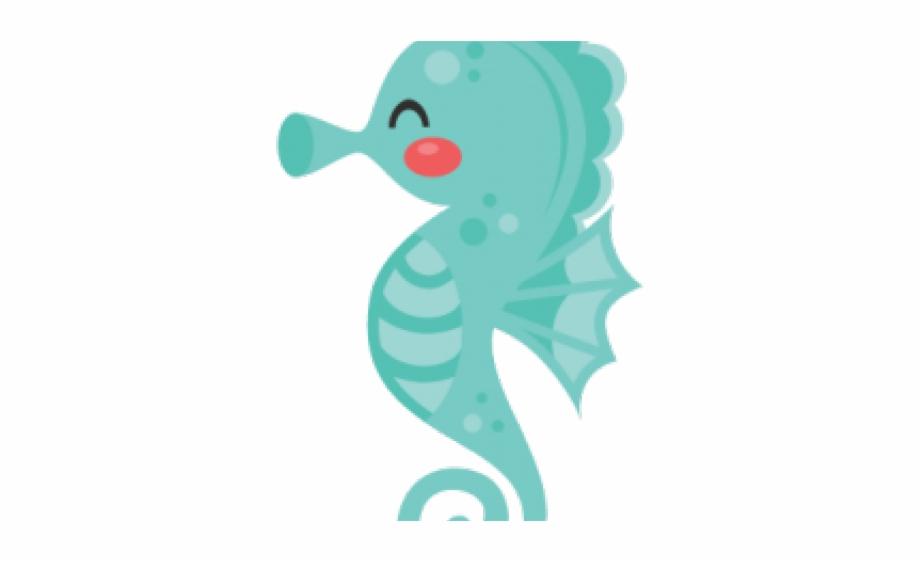 clipart transparent Seahorse clipart. Little mermaid sea horse.