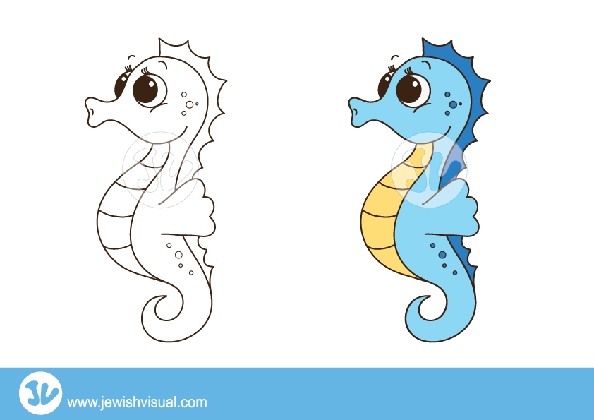 jpg freeuse stock Seahorse clipart. Jvisual seahorseclipart.