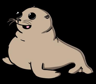 clip art free library Cute . Seal clipart.