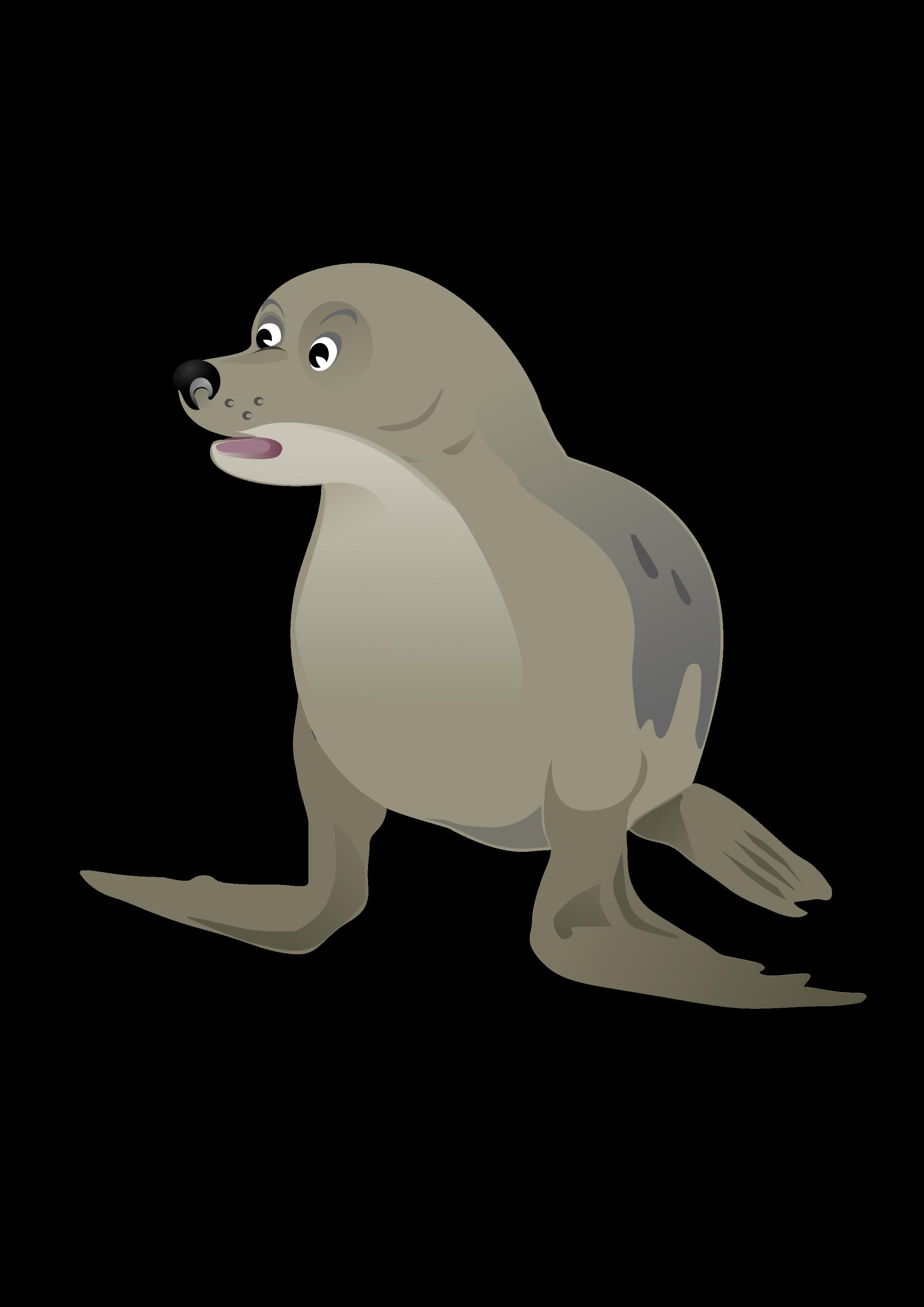 clip art royalty free library Seal big image png. Walrus clipart grey thing
