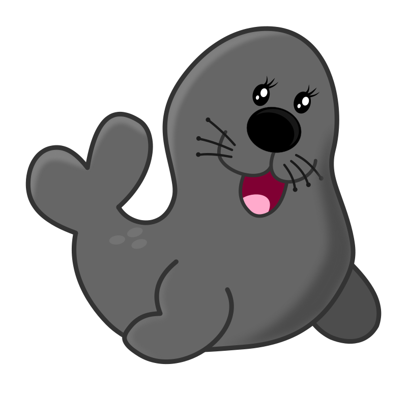 vector download Manatee clipart vector. Seal by maw acuario.
