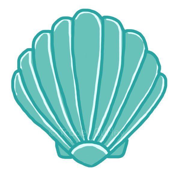 picture royalty free library Seashell clipart. Seashells cute borders vectors