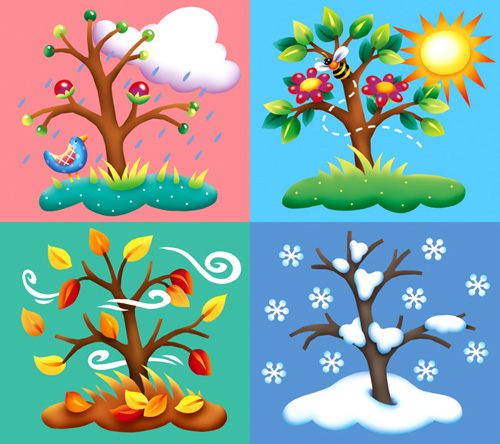 jpg library Free four cliparts download. Seasons clipart