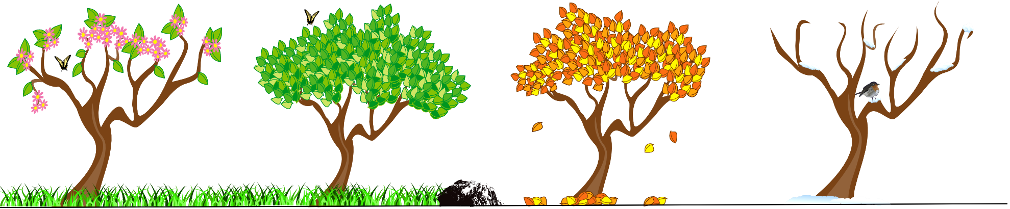 freeuse download 4 seasons tree clipart #55039895