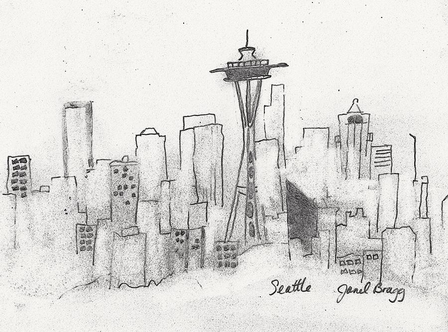 svg royalty free library Sketch . Seattle drawing.