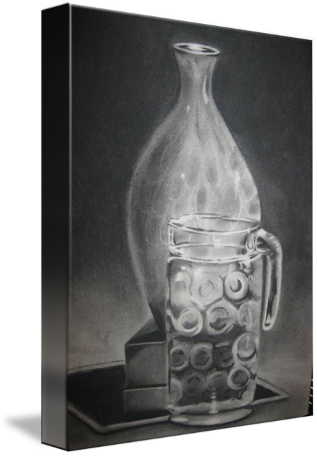clip art black and white library Drawing charcoal still life. Transparency by marilyn june
