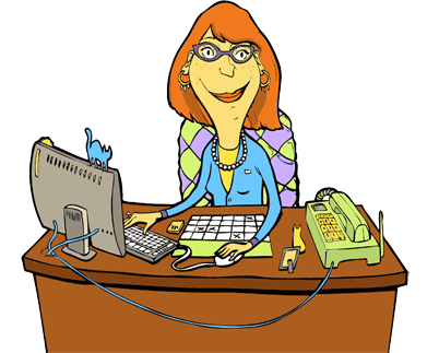 graphic free stock Secretary clipart. Busy at work free.