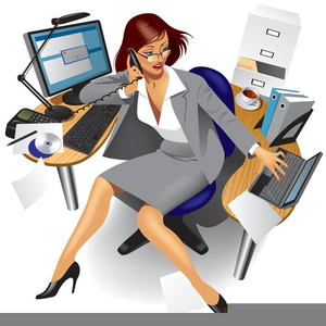 picture transparent download Free busy images at. Secretary clipart.