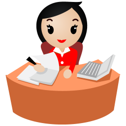 jpg free Secretary clipart. With red uniform icon.