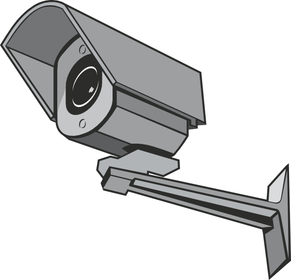 svg black and white download Surveillance camera clip art. Security clipart digital security