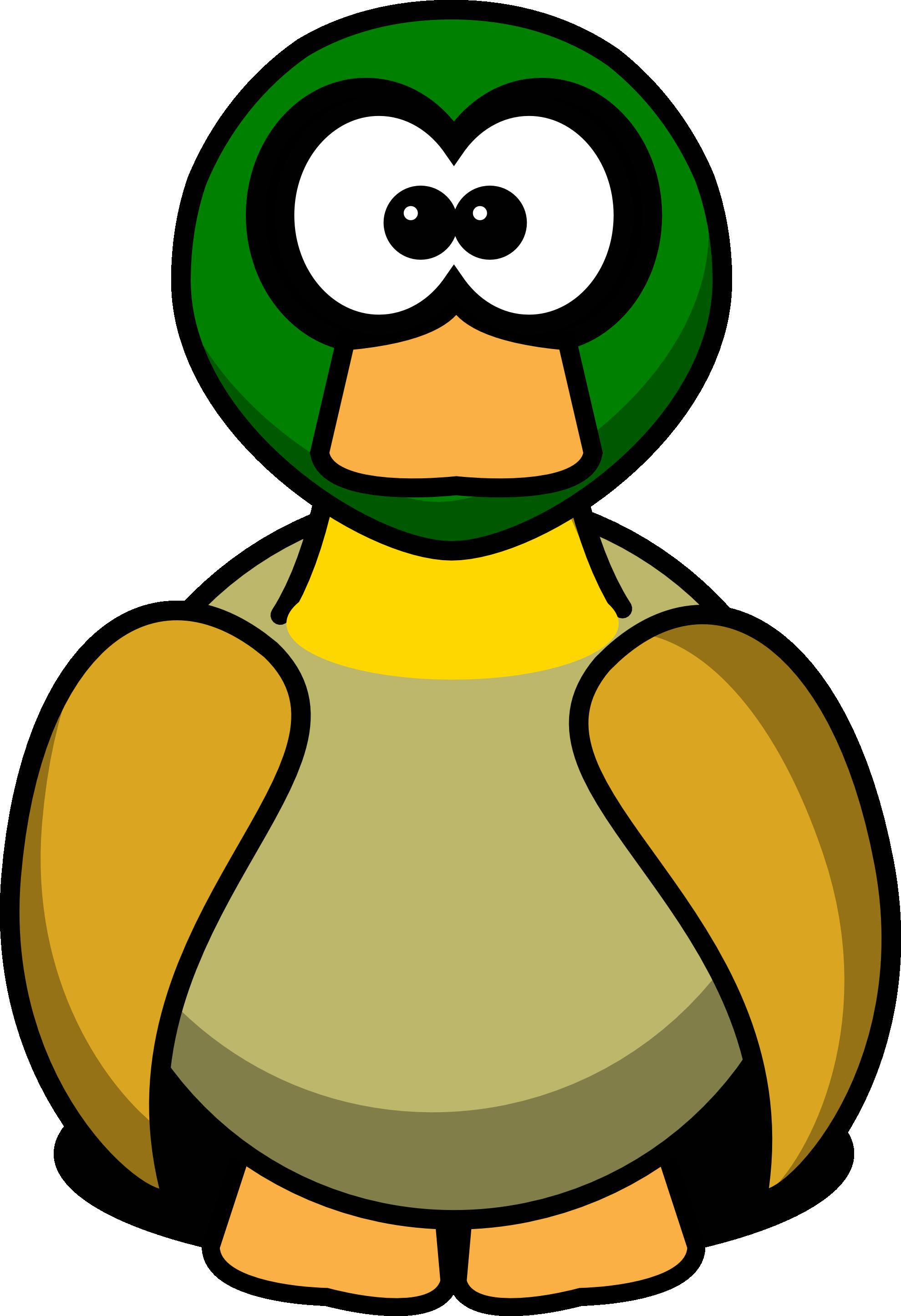 vector transparent Cute funny duck cartoon. See clipart.