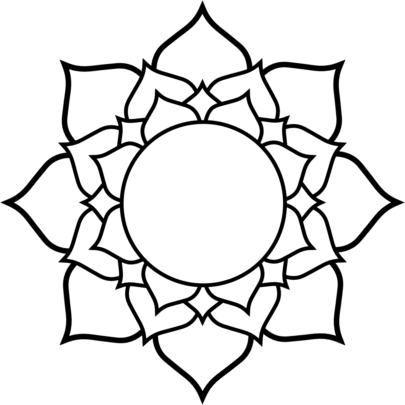 clip art royalty free library Lotus flower black and white clipart. Clipartist info line art