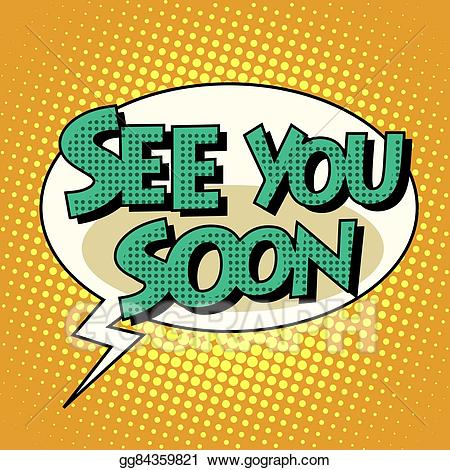 image transparent library Art see you soon. Vector bubble retro